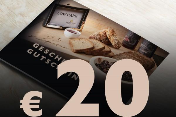 Geschenkgutschein Wert € 20,-