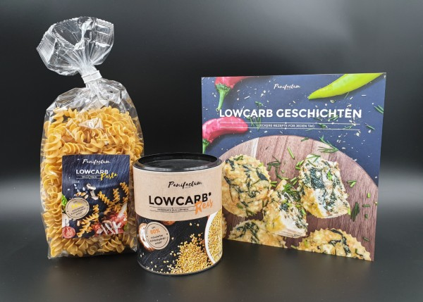 Kochbuch- Paket mit Lowcarb* Pasta und Reis