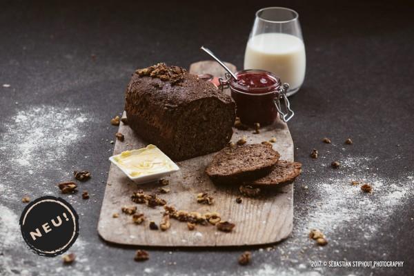 LowCarb Backmischung für Brot Walnußkruste