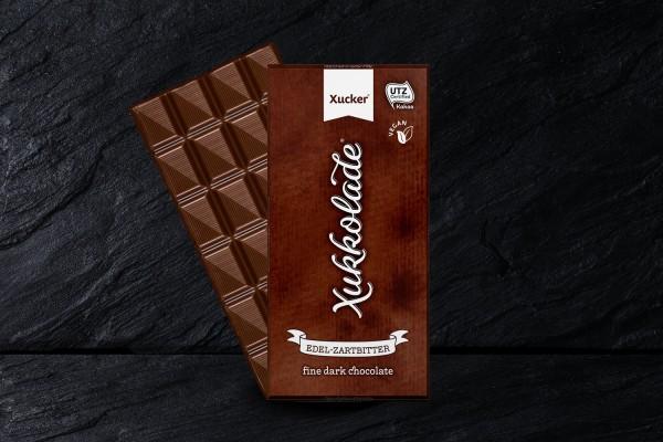 Vegane Zartbitterschokolade mit Xylit