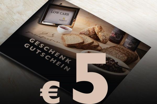 Geschenkgutschein Wert € 5,-